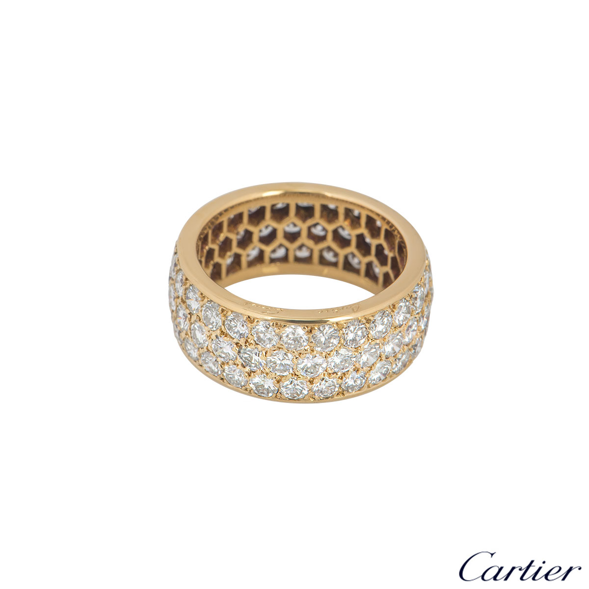 Cartier Yellow Gold Diamond Full Eternity Ring 3.60ct G/VS